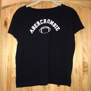 Abercrombie navy football t-shirt